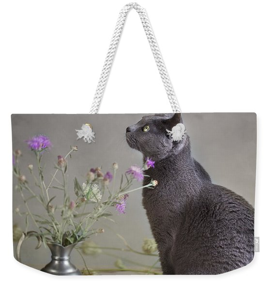 Still Life With Cat Weekender Tote Bag