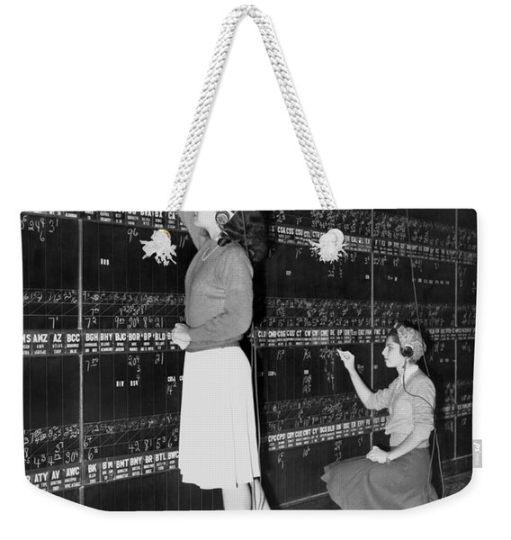 Stock Exchange Hires Women Weekender Tote Bag
