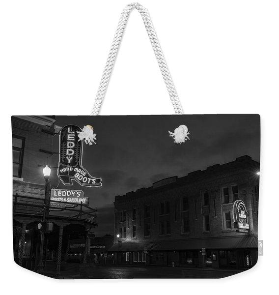 Stockyards Main And Exchange Bw Weekender Tote Bag