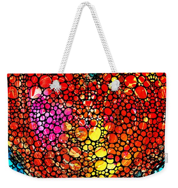 Stone Rock'd Heart - Colorful Love From Sharon Cummings Weekender Tote Bag