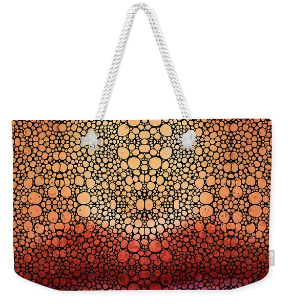 Stone Rock'd Pout - Sexy Lips By Sharon Cummings Weekender Tote Bag