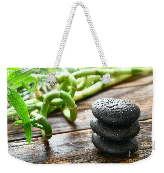Stones And Bamboo Weekender Tote Bag