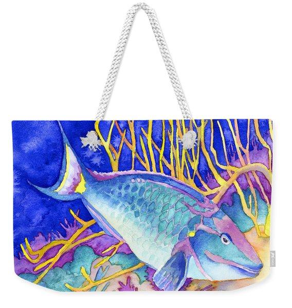 Stoplight Parrotfish Weekender Tote Bag