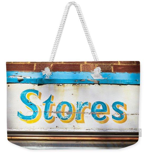 Stores Sign Weekender Tote Bag