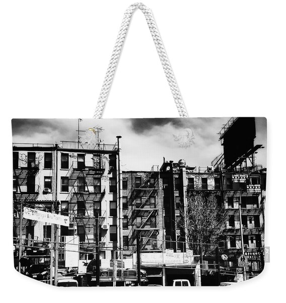 Storm Clouds Over Chinatown - New York City Weekender Tote Bag