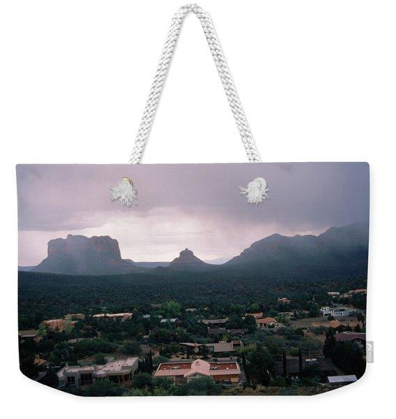 Storm, Desert, Mesas, Arizona Weekender Tote Bag