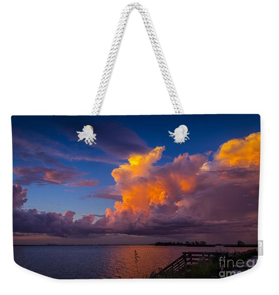 Storm On Tampa Weekender Tote Bag