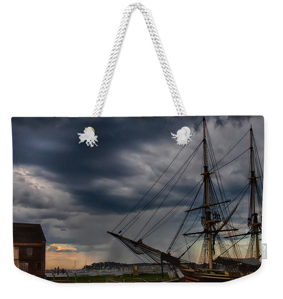 Weekender Tote Bag featuring the photograph Storm Passing Salem by Jeff Folger
