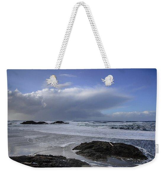 Storm Rolling In Wickaninnish Beach Weekender Tote Bag