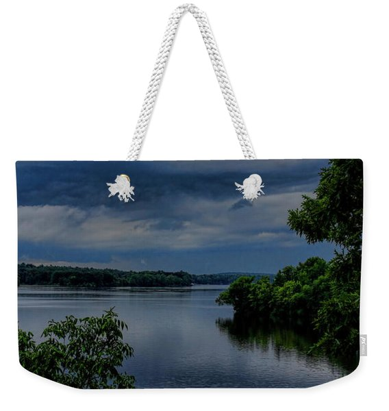 Storm Rolling Over Lake Wausau Weekender Tote Bag
