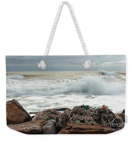 Storm Surf At Rye Beach Weekender Tote Bag