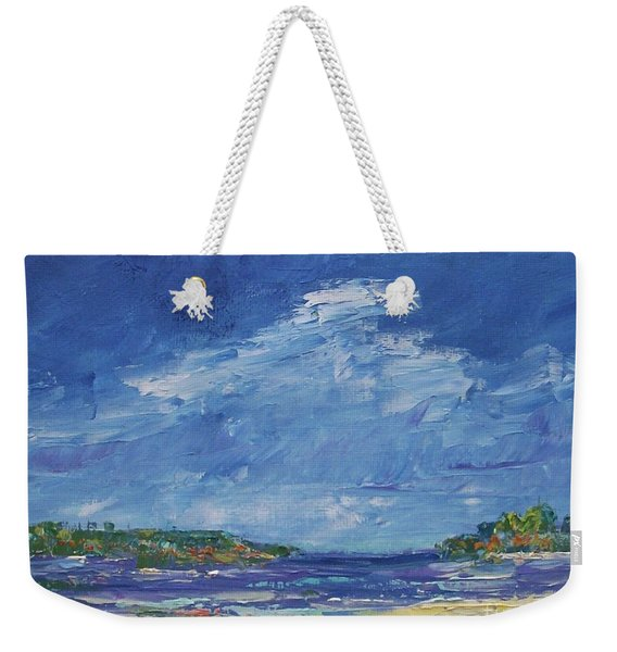 Stormy Day At Picnic Island Weekender Tote Bag