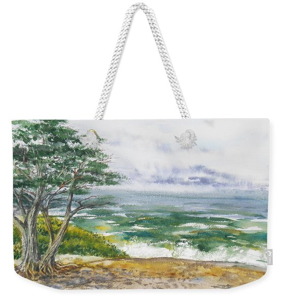 Stormy Morning At Carmel By The Sea California Weekender Tote Bag