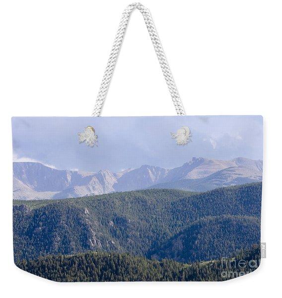 Stormy Pikes Peak Weekender Tote Bag