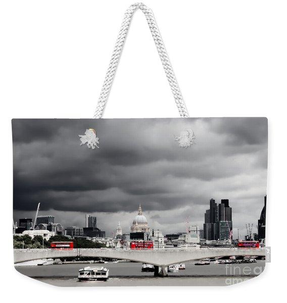 Stormy Skies Over London Weekender Tote Bag