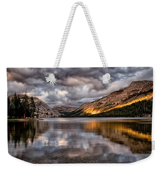 Stormy Sunset At Tenaya Weekender Tote Bag