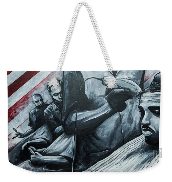Straight Cutttin Weekender Tote Bag
