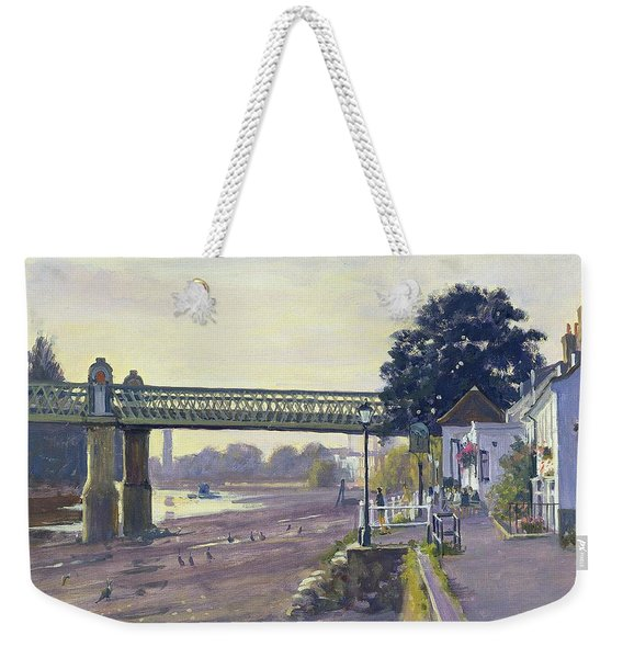 Strand On The Green Oil On Canvas Weekender Tote Bag