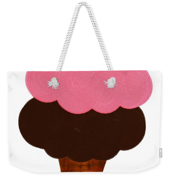 Strawberry And Chocolate Ice Cream Cone  Weekender Tote Bag