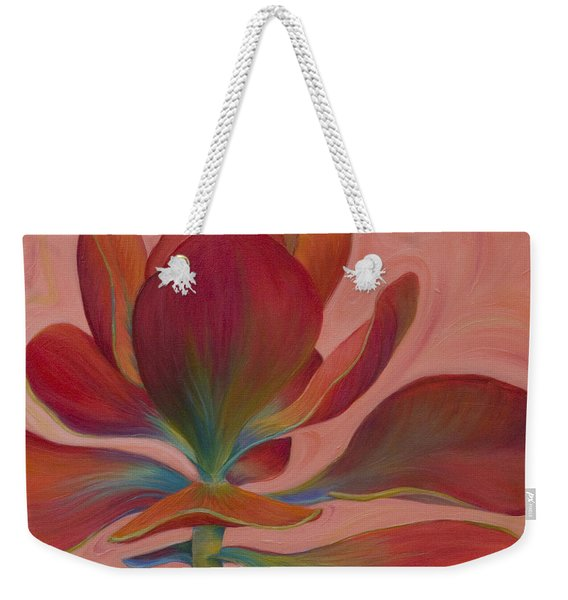 Weekender Tote Bag featuring the painting Strawberry Flapjack by Sandi Whetzel