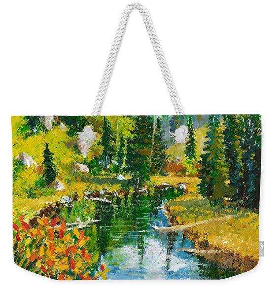 Strawberry Reservoir Weekender Tote Bag
