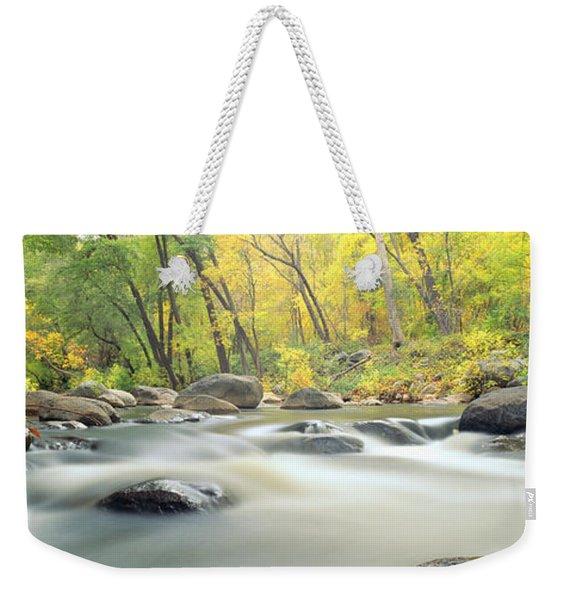 Stream In Cottonwood Canyon, Sedona Weekender Tote Bag