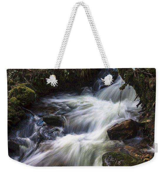 Stream On Eume River Galicia Spain Weekender Tote Bag
