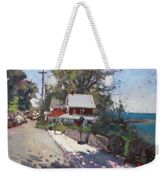 Street In Olcott Beach  Weekender Tote Bag