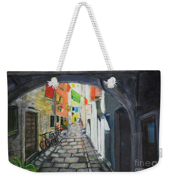 Street View 2 From Pula Weekender Tote Bag