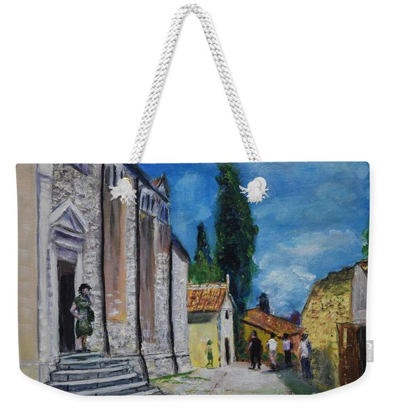Street View In Rovinj Weekender Tote Bag