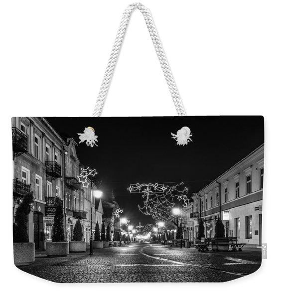 Streets Before Christmas Weekender Tote Bag