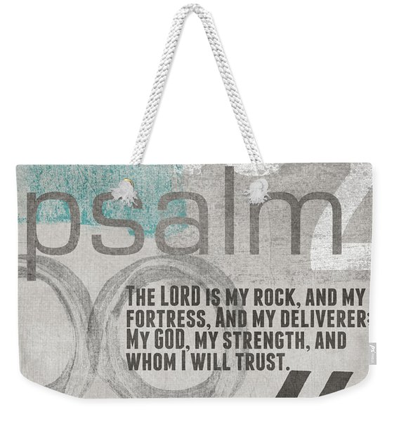 Strength And Trust- Contemporary Christian Art Weekender Tote Bag