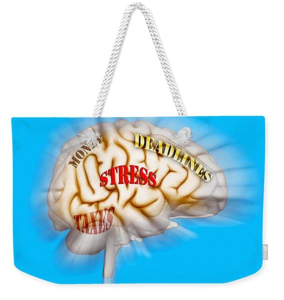 Stress Weekender Tote Bag