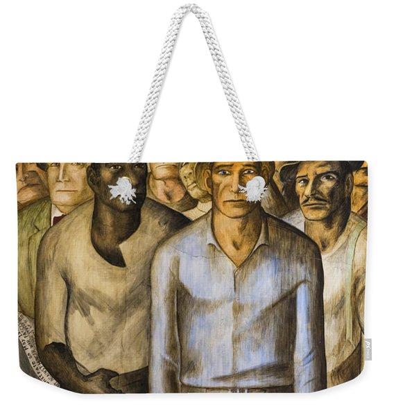 Striking Miners Mural In Coit Tower Weekender Tote Bag