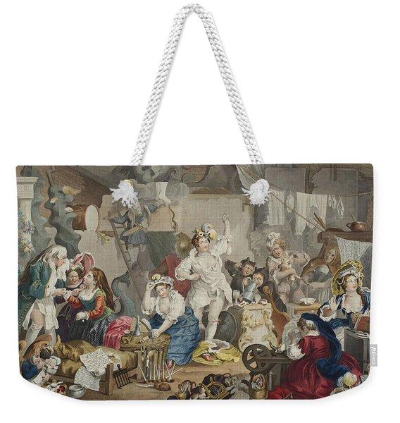 Strolling Actresses Dressing In A Barn Weekender Tote Bag