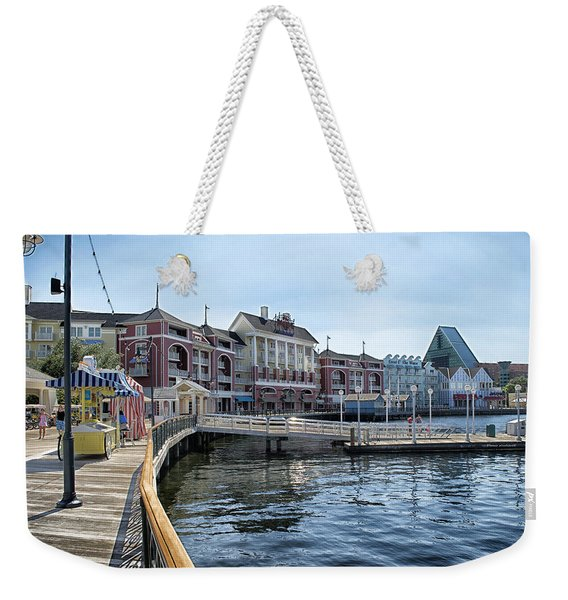 Strolling On The Boardwalk At Disney World Weekender Tote Bag