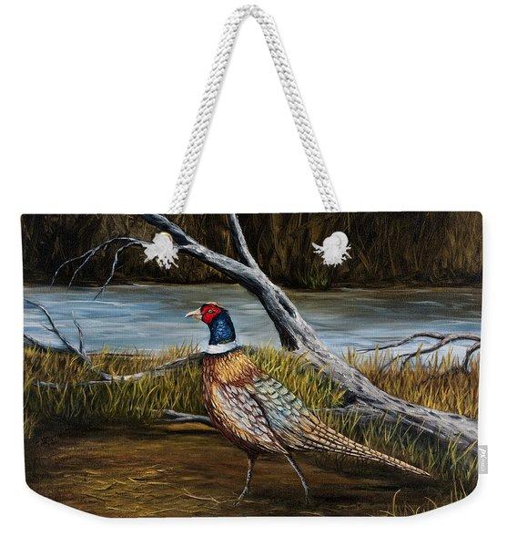 Strutting Pheasant Weekender Tote Bag