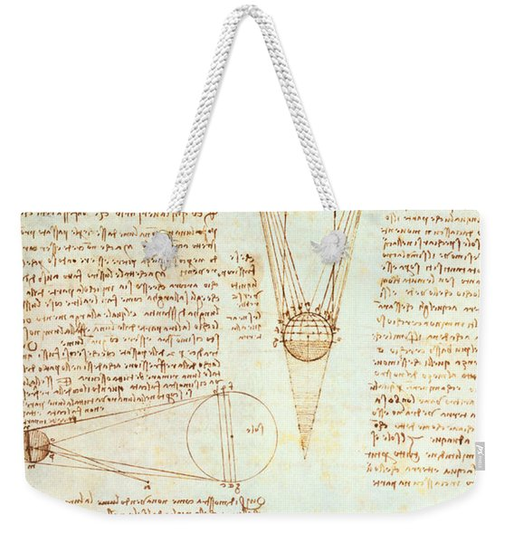 Studies Of The Illumination Of The Moon Weekender Tote Bag