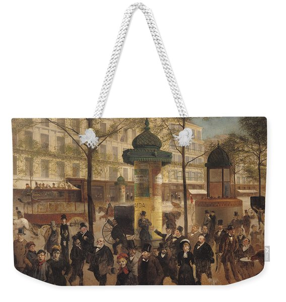 Study For A Panorama Of The Boulevard De Montmartre, 1877 Oil On Canvas Weekender Tote Bag