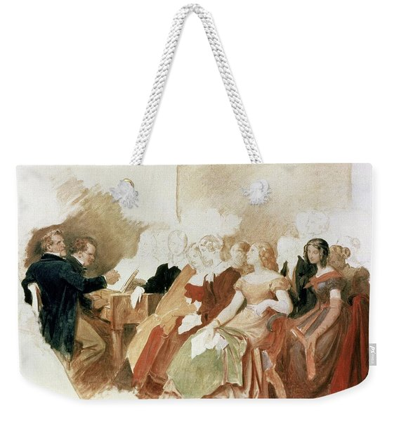 Study For An Evening At Baron Von Spauns Schubert At The Piano Among His Friends Weekender Tote Bag