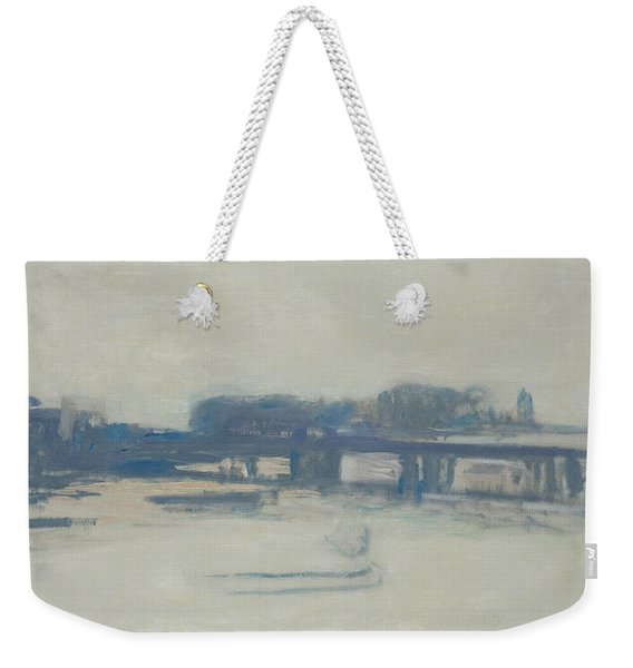 Study For Charing Cross Bridge, 1899-1901 Oil On Canvas Weekender Tote Bag