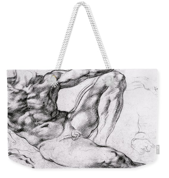 Study For The Creation Of Adam Weekender Tote Bag