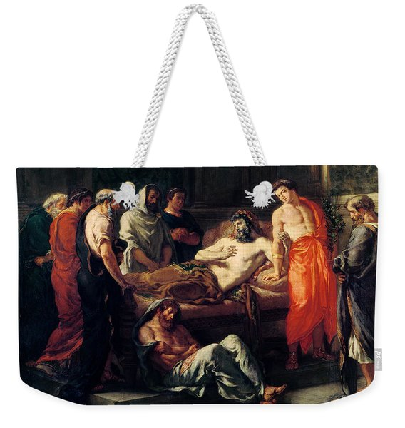 Study For The Death Of Marcus Aurelius Weekender Tote Bag