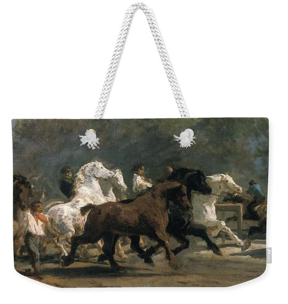 Study For The Horsemarket, 1900 Oil On Canvas Weekender Tote Bag