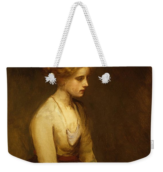 Study Of A Fair Haired Beauty  Weekender Tote Bag