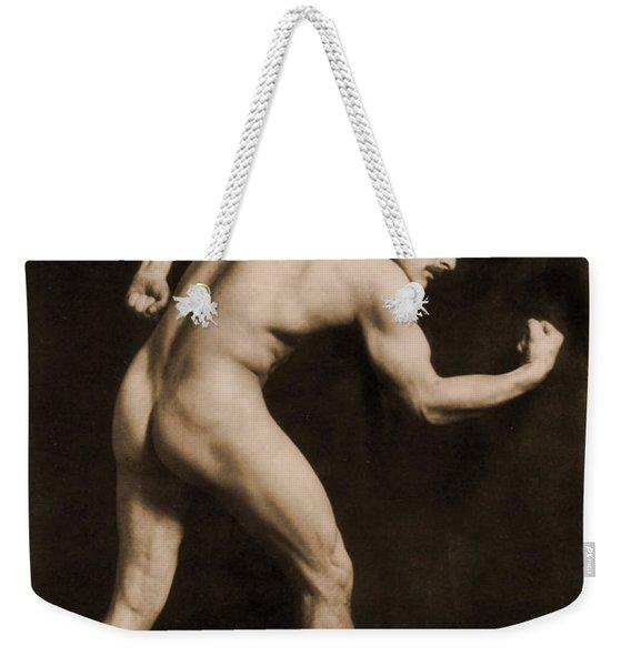 Study Of A Male Nude Weekender Tote Bag