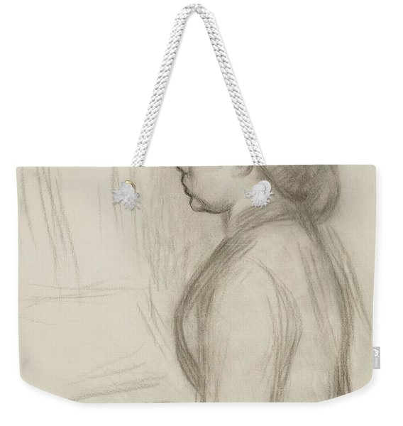 Study Of A Young Girl At The Piano Weekender Tote Bag