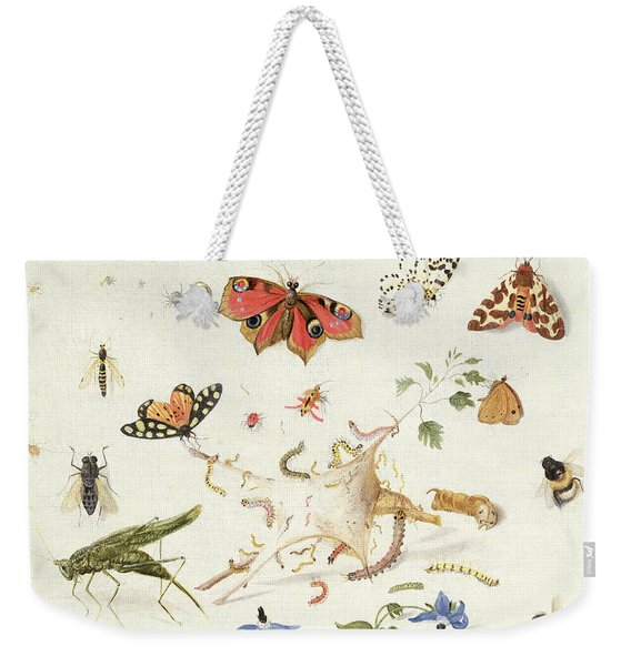 Study Of Insects And Flowers Weekender Tote Bag