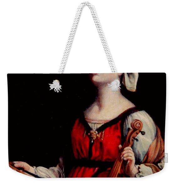 Study Of St. Cecelia Weekender Tote Bag