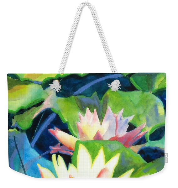 Styalized Lily Pads 3 Weekender Tote Bag